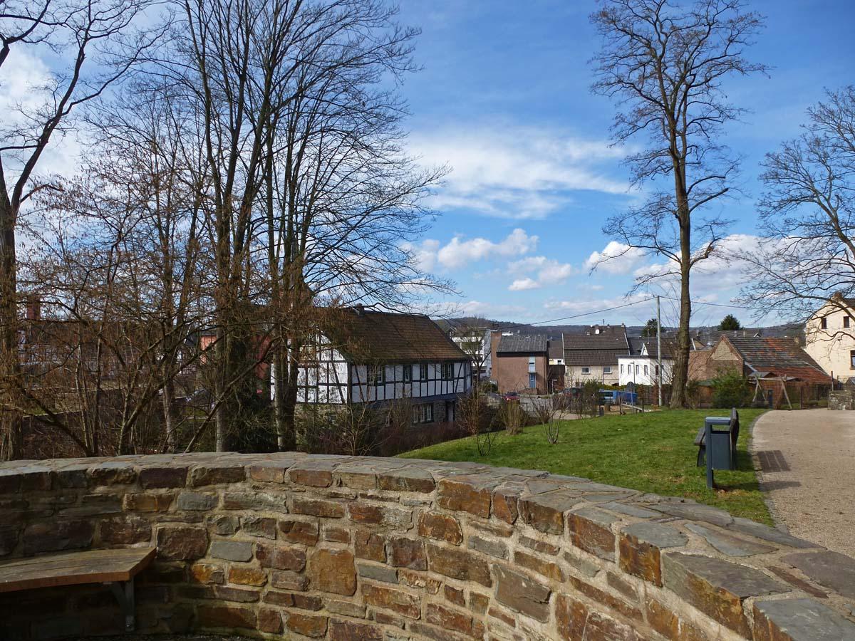 Ein Blick zurück auf Rheinbreitbach
