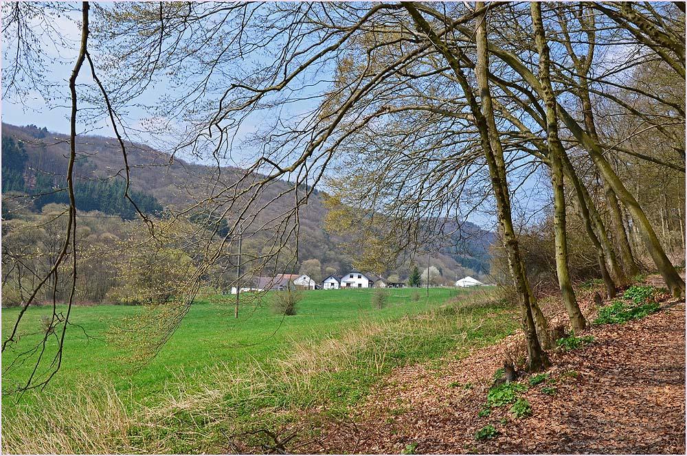 Schon nähere ich mich Kirchsahr, einem idyllischen kleinen Dorf.