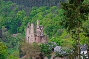 Der erste Blick auf die Burgruine Rammstein. Der Entschluß steht fest diese aufzusuchen