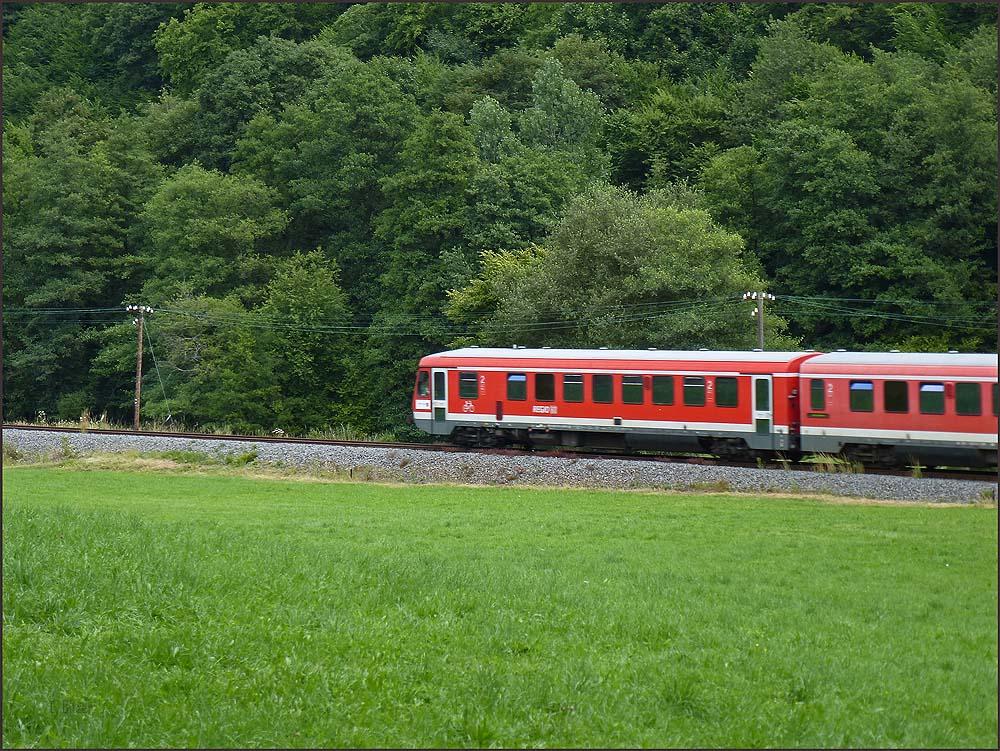 Gehört habe ich die Bahn andauernd, denn hier sind sicher viele ungeschützte Gleisübergänge, an denen der Lokführer seinen Warnton erschallen lässt.