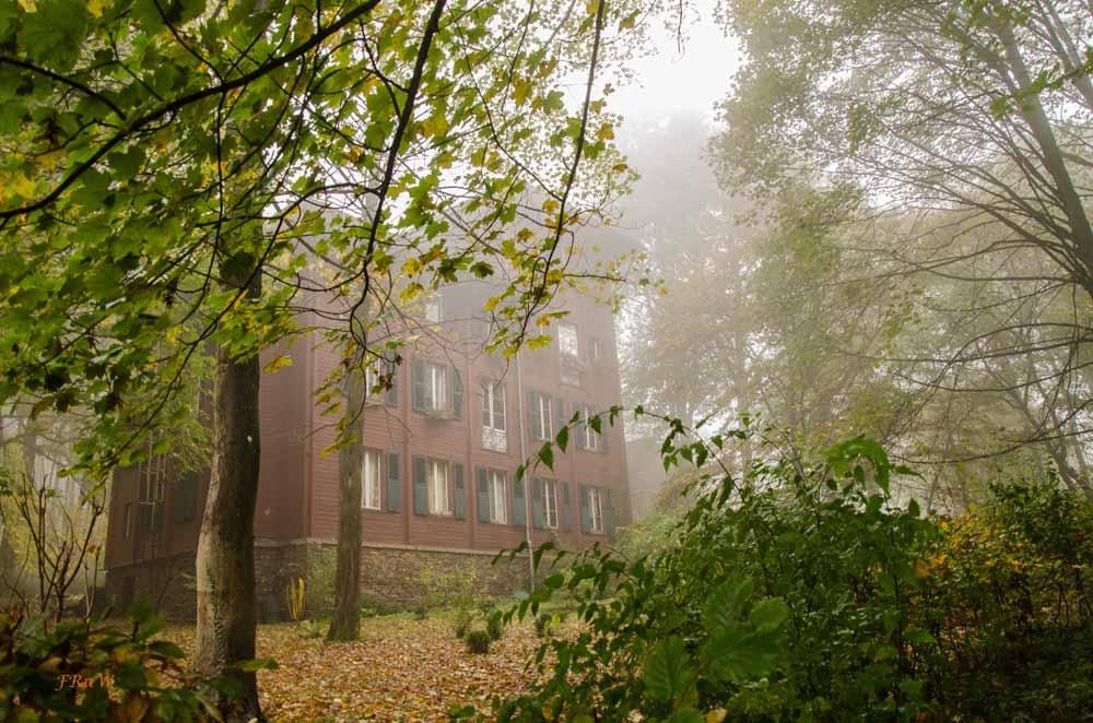 Schwedenhaus, es wurde 1888 im skandinavischen Holzbaustil als Jagdschloss erbaut