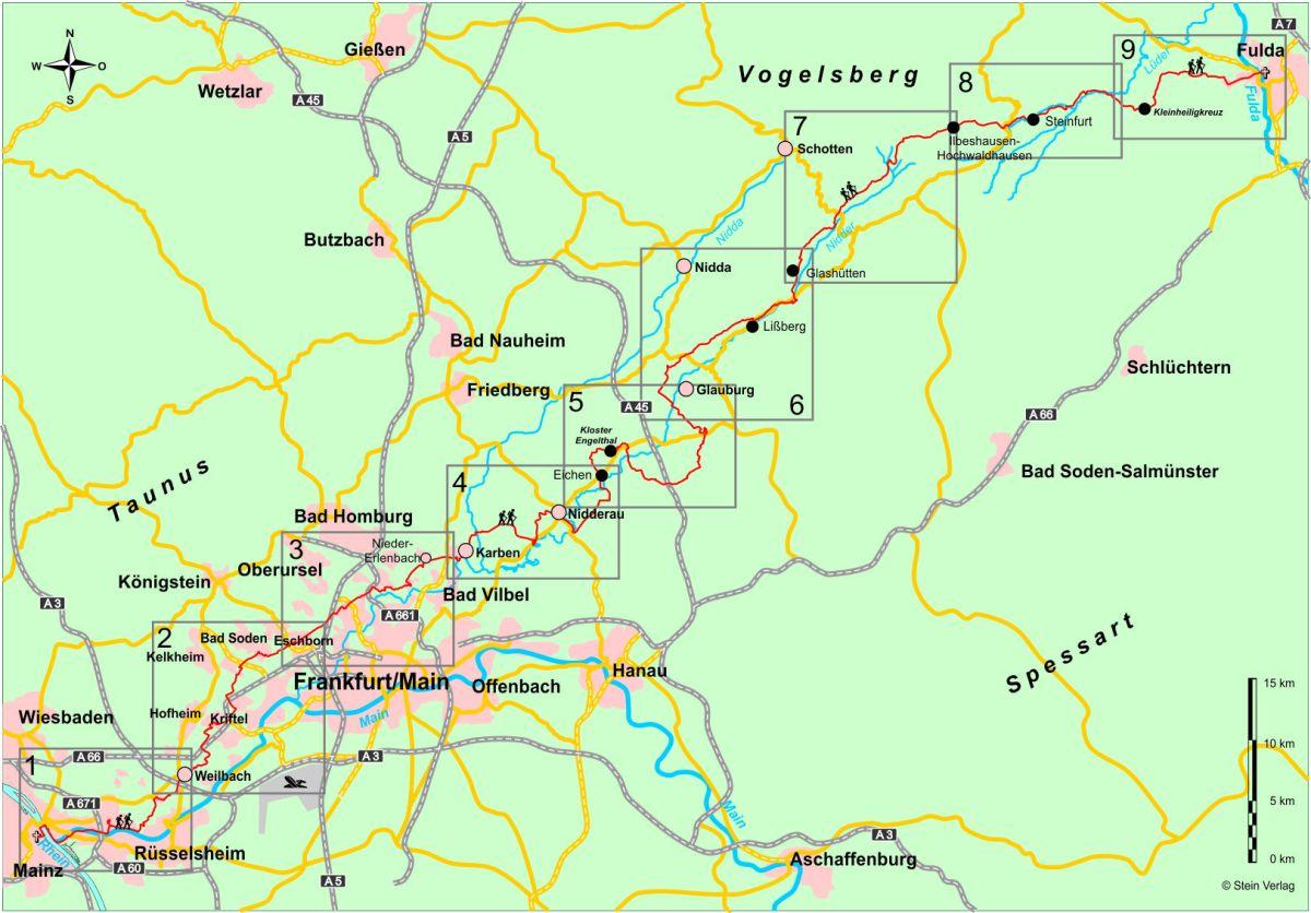 Bonifatius-Route Übersicht