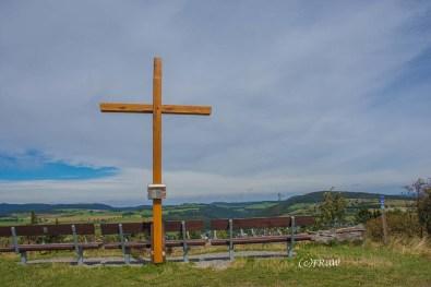 Usselner Kreuz mit Aussicht auf Usseln/Willingen