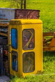 Telefonzelle als Spielzeugaufbewahrungsbox